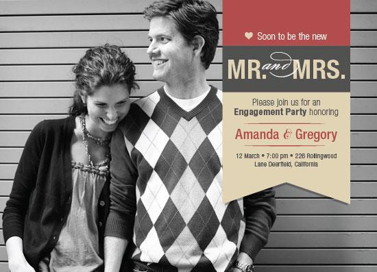 party invitations - MR. and MRS. by Ana Maria Villanueva