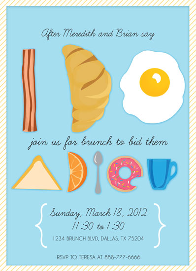 Bridal Brunch Shower Invitations as beautiful invitation example