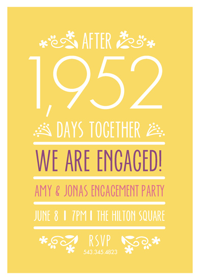party invitations - Counting the Days by Ana Gonzalez