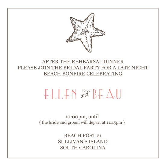 party invitations - Beach Bonfire by Olive Paper