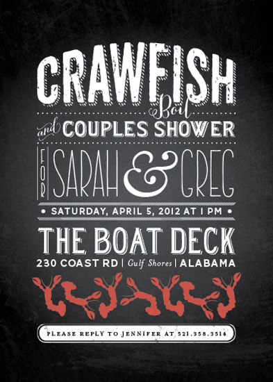 party invitations - Crawfish & Couples at Minted.com
