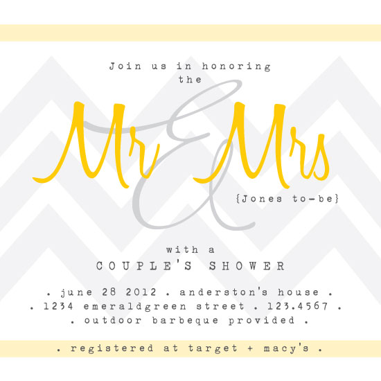 party invitations - Mr + Mrs Celebration by Amy Weir