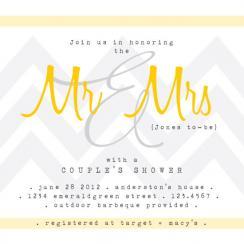 Mr + Mrs Celebration