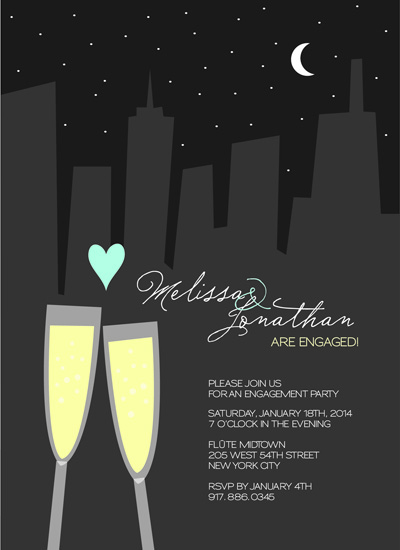 party invitations - cheers under the stars by Belina Lizarzabal