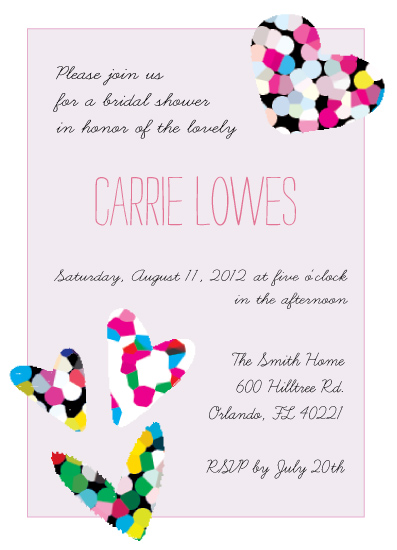 party invitations - Mosaic Hearts by Emma Apple