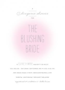 the blushing bride lingerie shower