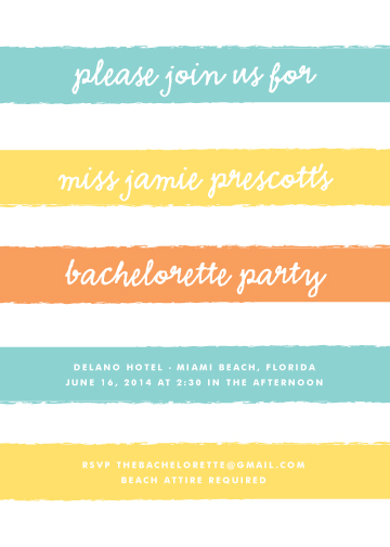 party invitations - south beach by Waui Design
