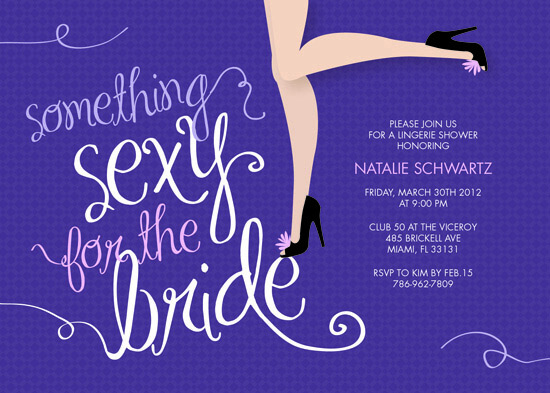 party invitations - Something Sexy by Belina Lizarzabal