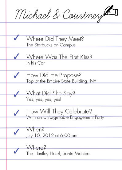 party invitations - Couple's Questionnaire by Emma Apple