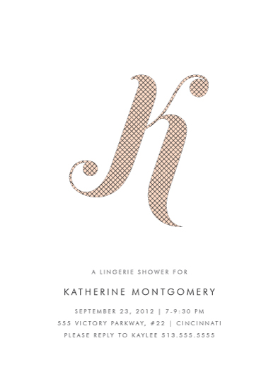 party invitations - Risque Initial by Kim Dietrich Elam