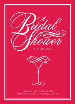 Elegant Martini Bridal Shower