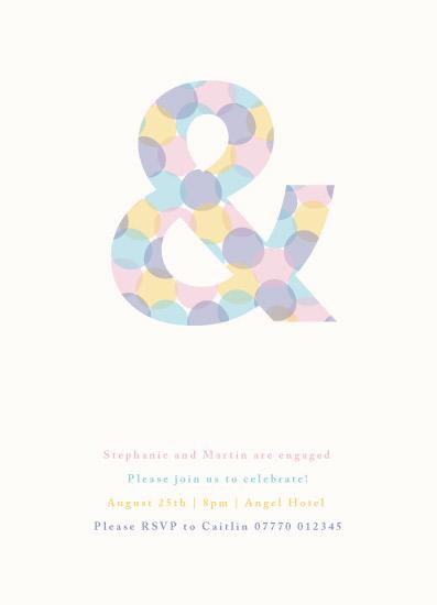 party invitations - confetti ampersand by Rebecca Jackson