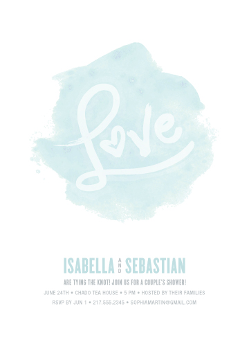 party invitations - love in watercolour by Guess What Design Studio