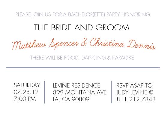 Party invitations coed bachelor bachelorette at minted party invitations coed bachelor bachelorette by emma apple stopboris Gallery