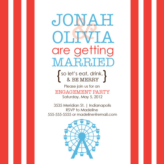 party invitations - A Carnival of Fun Engagement Party by Sarah Eutsler