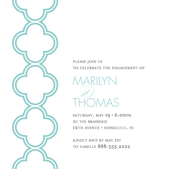 party invitations - Minimalist Quatrefoil by Pink Plum Design