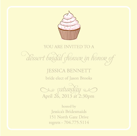 Party Invitations Dessert Shower At Minted Com