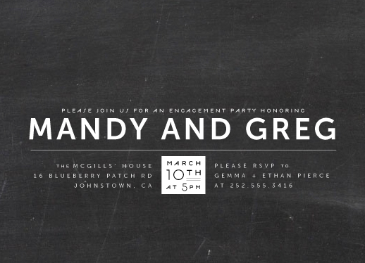 party invitations - laid back black and white by Up Up Creative