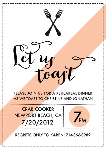 party invitations - Let's Toast by Anna Elder