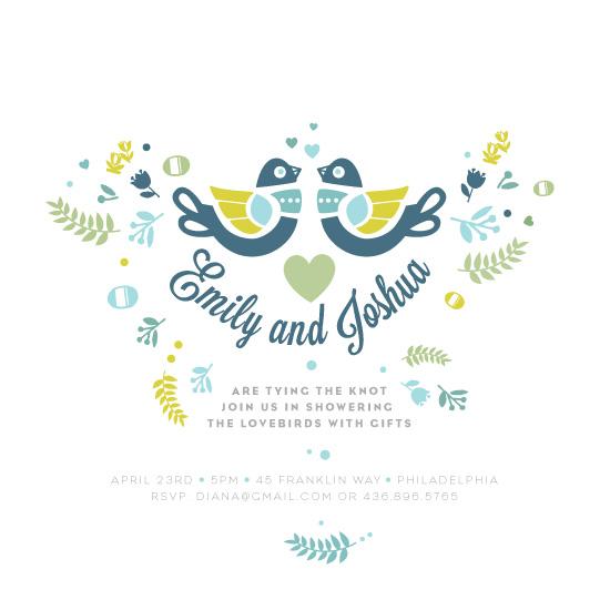 party invitations - love bird shower by Diana Steinsnyder