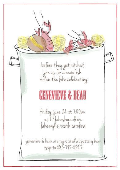 party invitations Crawfish Boil at Mintedcom