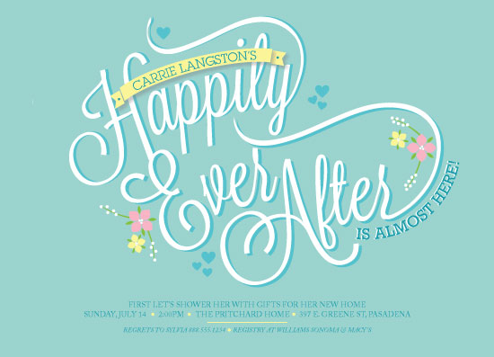 party invitations - Happily Ever After by Beth Schneider