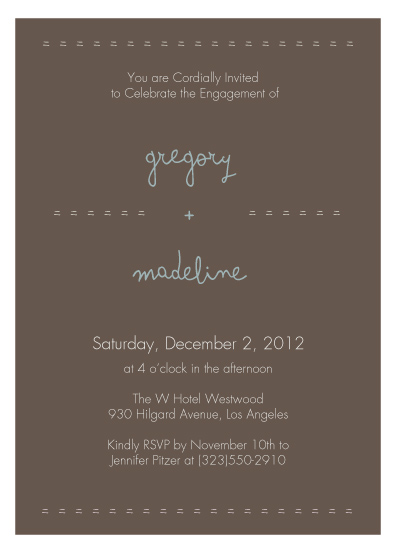 party invitations - Understated Neutral by Emma Apple