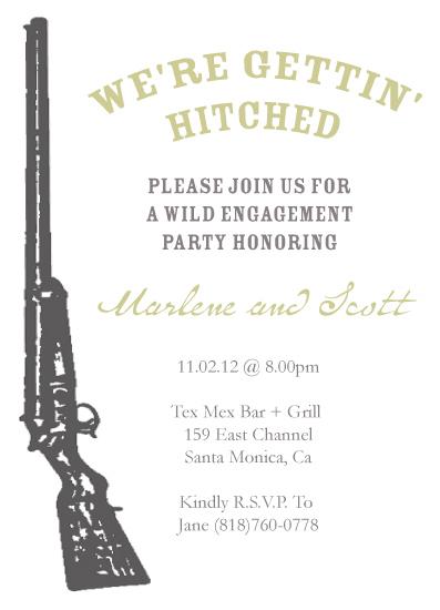 party invitations - Shotgun Wedding Engagement by Emma Apple