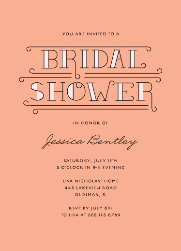 party invitations - Bridal Shower Bliss by Serenity Avenue