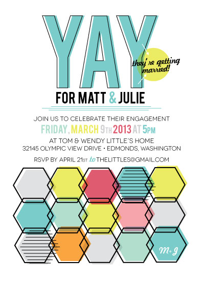 party invitations - Yay for Marriage by la Happy
