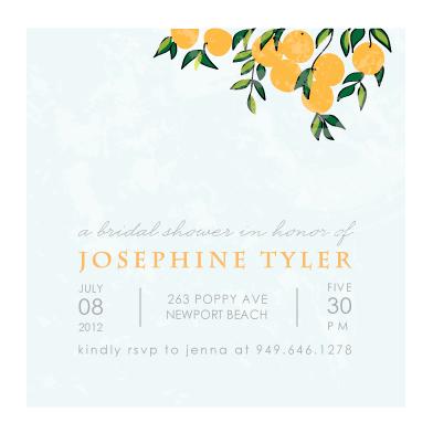 party invitations - Orange Tree by Monica Schafer