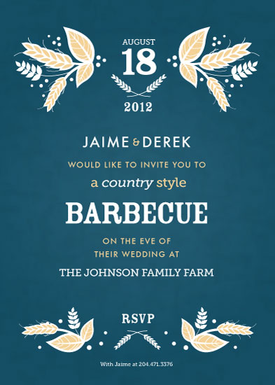 party invitations - COUNTRY Style by Kelly Caruk