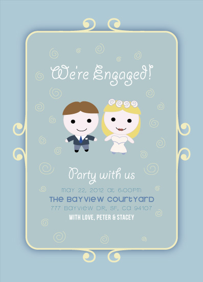 party invitations - Delightfully Adorable Couple by Omar