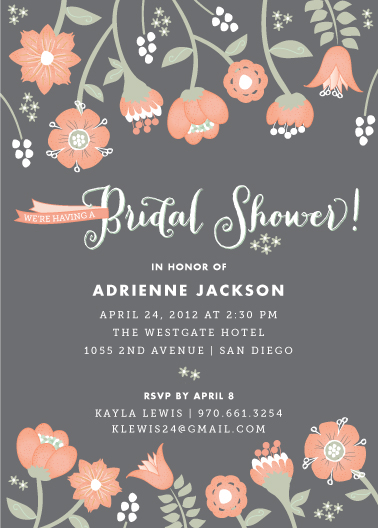 party invitations - Garden Whimsy by Wendy Van Ryn