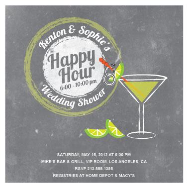 party invitations - Happy Hour by Jenn Johnson