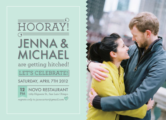 party invitations - Hitched! by Kayla King