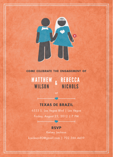 party invitations - Modern Couple by Wendy Van Ryn