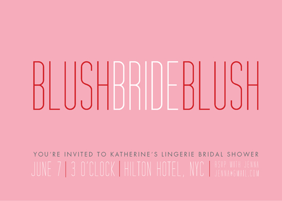 party invitations - Blush Bride Blush by Ana Gonzalez