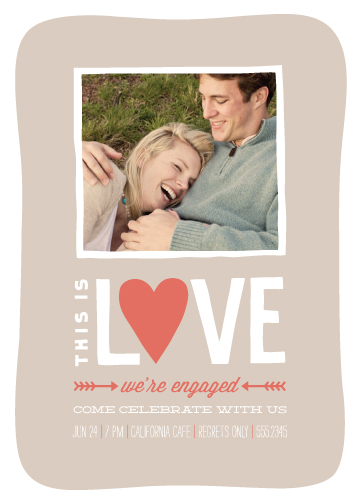 party invitations - this is love by Guess What Design Studio