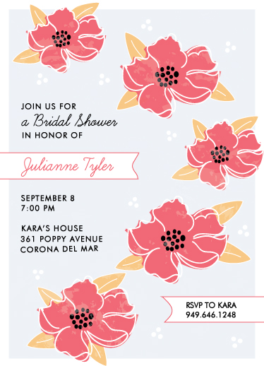party invitations - Vibrant Blooms by Monica Schafer