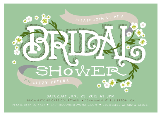 party invitations - Shower Blossoms by Alethea and Ruth