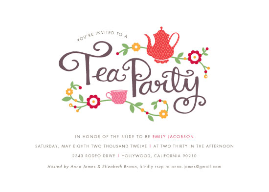 Party Invitations  Tea Party At MintedCom
