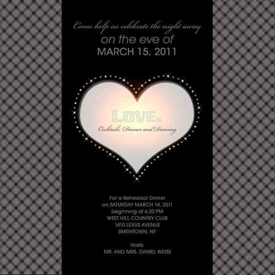 party invitations - Love. Rehearsal Dinner by Jessica Termini