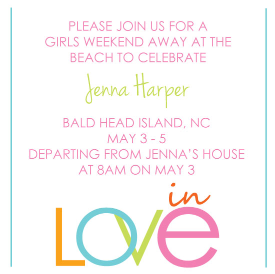 party invitations - In Love by Olive Paper