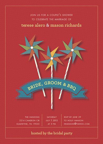 party invitations - Bride, Groom and BBQ by Carol Fazio