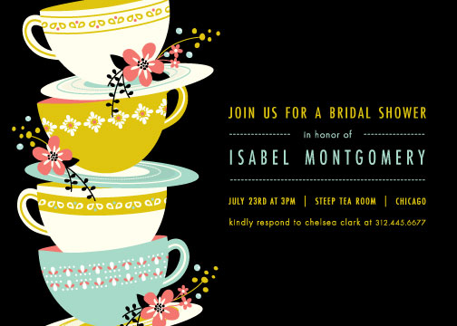 party invitations - time for tea by Angela Marzuki