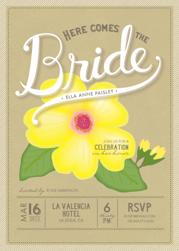 party invitations - Blossoming Bride by Griffinbell Paper Co.