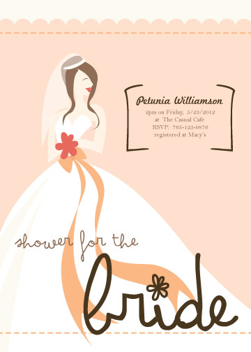 party invitations - Bridal Shower Ballet by Jillian Tackaberry