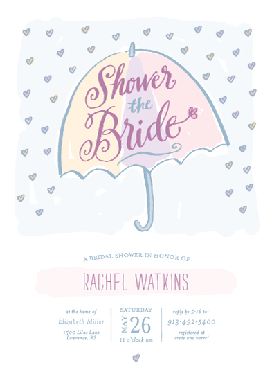 party invitations - Raining Hearts by Laura Bolter Design