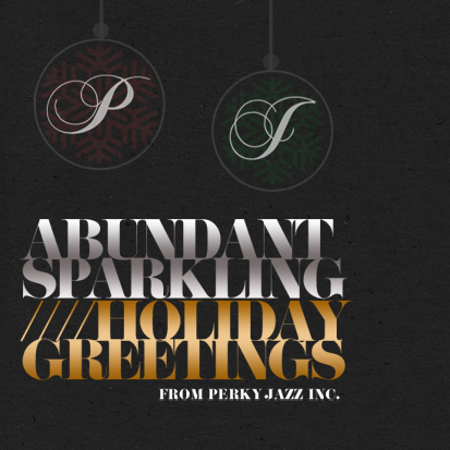 business holiday cards - sparkling holiday by Jessica Candradi